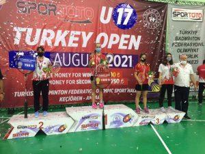 На міжнародного турніру Turkey open U17, який відбувся з 5 по 8 серпня в Анкарі.